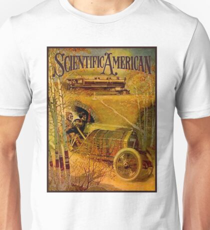 """SCIENTIFIC AMERICA"" Vintage Grand Prix Advertising Print Unisex T-Shirt"
