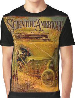 """SCIENTIFIC AMERICA"" Vintage Grand Prix Advertising Print Graphic T-Shirt"