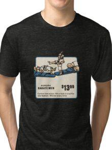 Aurora Karate Men 70s Toy Ad Tri-blend T-Shirt
