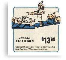 Aurora Karate Men 70s Toy Ad Canvas Print