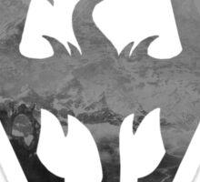 Skyrim logo blue mountain background Sticker