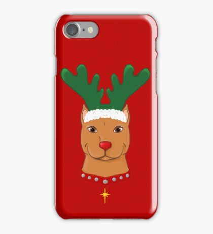 Pit Bull Reindeer iPhone Case/Skin