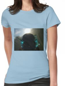 Backlit Diver Womens Fitted T-Shirt
