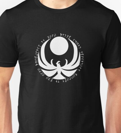The Nightingales Symbol - Daedric writings Unisex T-Shirt