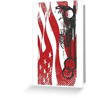 American Dragster Greeting Card