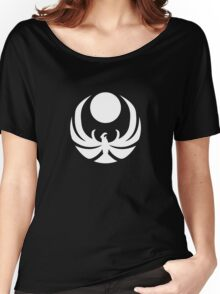 The Nightingales Symbol - simple white Women's Relaxed Fit T-Shirt