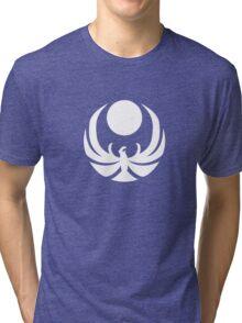 The Nightingales Symbol - simple white Tri-blend T-Shirt
