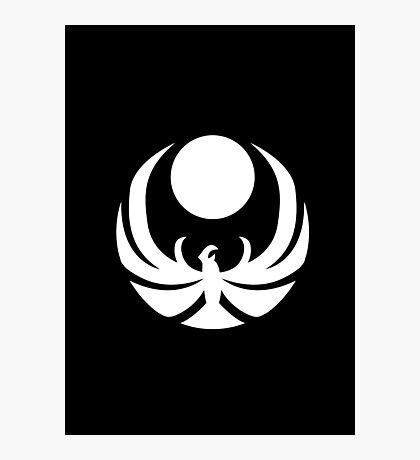 The Nightingales Symbol - simple white Photographic Print