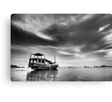 All Quiet in the Harbour Metal Print