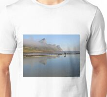 Mountains reflecting in tidal pool Unisex T-Shirt