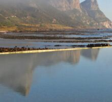 Mountains reflecting in tidal pool Sticker