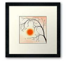 Cherry Tree in Fall art photo print Framed Print
