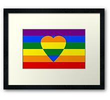 Rainbow heart Framed Print