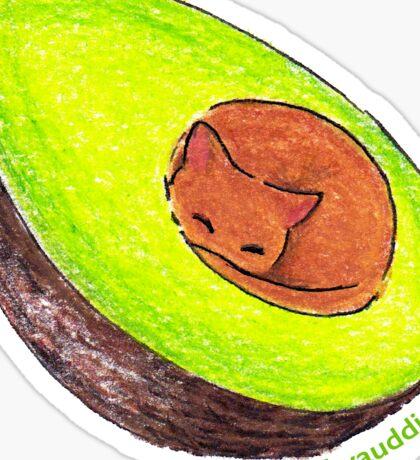 Avocato - Cat Sticker Sticker