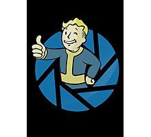 The Aperture Boy - Gamemix : Portal and Fallout - Black Photographic Print