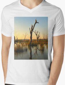 Sculptures in the Swamp Mens V-Neck T-Shirt