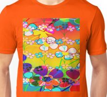 Abstract Colorful Flower Art Unisex T-Shirt