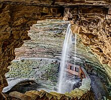 Cavern Cascade at Watkins Glen by Kenneth Keifer