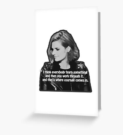 STANA KATIC, QUOTE Greeting Card