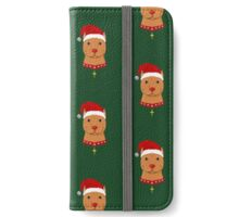 Santa Paws Pit Bull iPhone Wallet/Case/Skin
