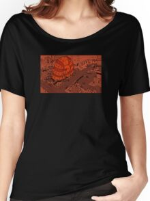 Snailhouse City (Red/orange hue) Women's Relaxed Fit T-Shirt