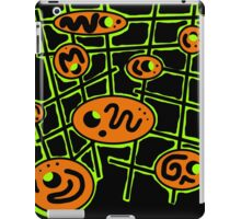 Orange and green abstraction iPad Case/Skin