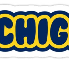 Michigan Bubble Letters Sticker
