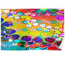 Abstract Colorful Flower Art Poster