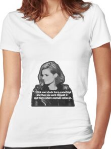 STANA KATIC, QUOTE Women's Fitted V-Neck T-Shirt