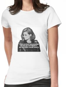 STANA KATIC, QUOTE Womens Fitted T-Shirt
