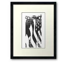 Black Flag Dragster Framed Print