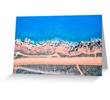 broome dirt road areal  Greeting Card