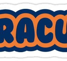 Syracuse Bubble Letters Sticker