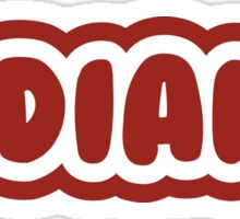Indiana Bubble Letters Sticker