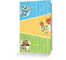 Pokemon XY Starter Greeting Card