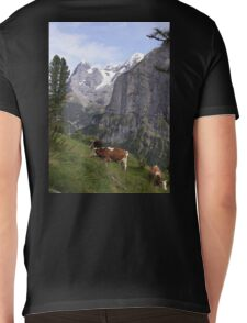 View of the Eiger from Mürren Mens V-Neck T-Shirt