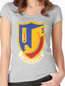 376th Bombardment Group Liberandos Emblem Women's Fitted Scoop T-Shirt