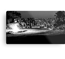 Campfire (black and white) Metal Print