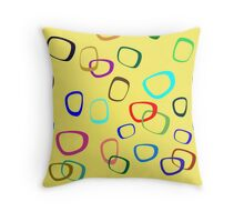 Square Hoops Throw Pillow