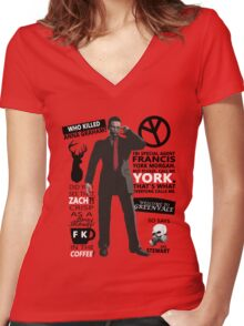 Deadly Premonition Women's Fitted V-Neck T-Shirt