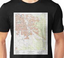 USGS TOPO Map Arizona AZ Tucson East 313825 1983 24000 Unisex T-Shirt