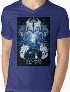 Undertale - Sans - Bad time mode Mens V-Neck T-Shirt