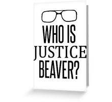 Justice Beaver - The Office Greeting Card