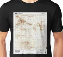 USGS TOPO Map Arizona AZ Waterman Peak 313982 1996 24000 Unisex T-Shirt