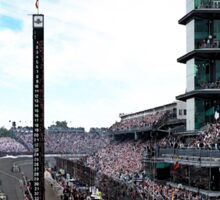 """Indianapolis 500 Start collage """"Back home again in Indiana"""" Sticker"""