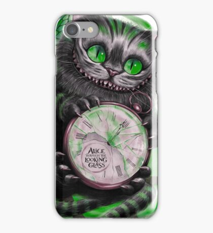 The Looking Glass Cat iPhone Case/Skin
