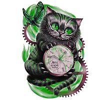 The Looking Glass Cat Photographic Print