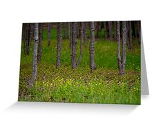 Yellow Patch Greeting Card