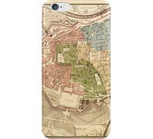 Map Of Vienna 1819 iPhone Case/Skin