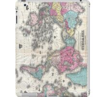Vintage Map of The World (1852) iPad Case/Skin